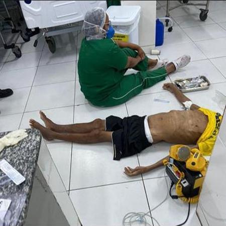 Homem foi atendido no chão e não resistiu, em Teresina - Reprodução/Redes Sociais