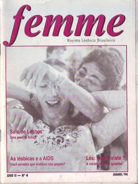Femme, lesbian magazine that circulated in Brazil between 1993 and 1996, in the collection of the Brazilian Lesbian Archive - Brazilian Lesbian Archive - Brazilian Lesbian Archive