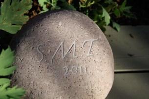 Carved Garden Stone