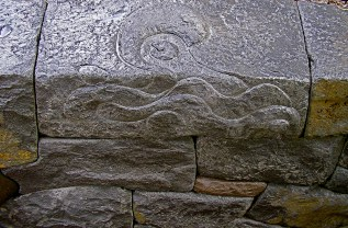 Eric Contey Stonework - carved wall cap
