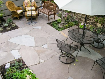 Eric Contey Stonework - Back yard patio