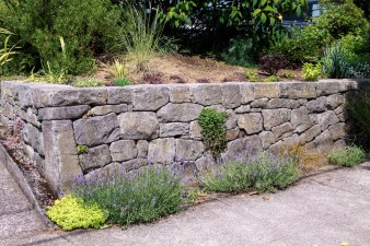 Eric Contey Stonework - 33rd Ave retaining wall