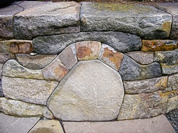 Eric Contey Stonework - DeGarmo raised bed wall
