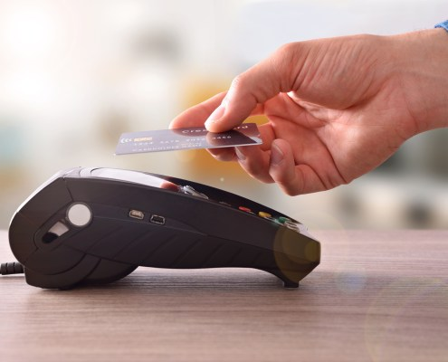 Payment on a trade through contactless