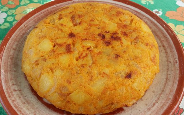Tortilla de pataca vegana