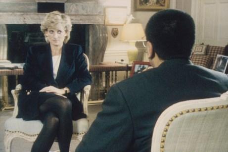 Princesa Diana e o jornalista Martin Bashir no programa Panorama, em 1995 [Foto: Getty Images]