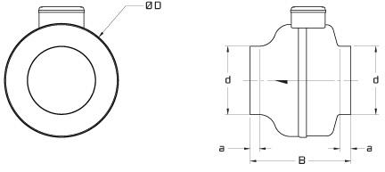 Dryer Booster Fan w/ Mounted Pressure Switch