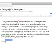 Gone Google | Collaborate with the best writers in history, instantly.