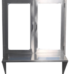hospital pass through window assembly with hinged glass doors and stainless steel shelf or set down pane double  [ 906 x 1066 Pixel ]