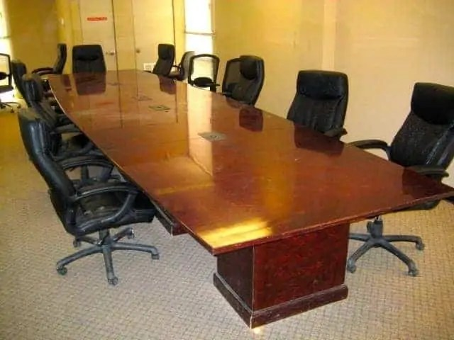 20 Ft Board Room Table With Built In Power Used