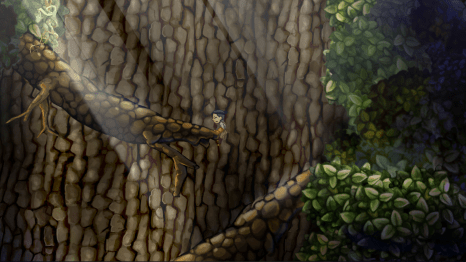 An early section of the game takes place in a giant tree.