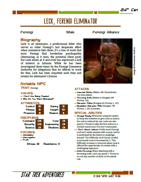 Leck - Ferengi Eliminator - Preview