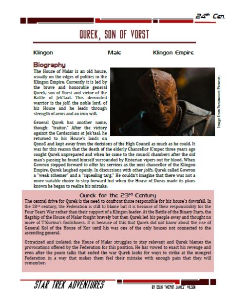 Qurek - Klingon joH - Preview