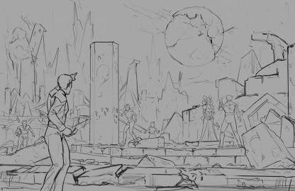 Away Team - Sketch