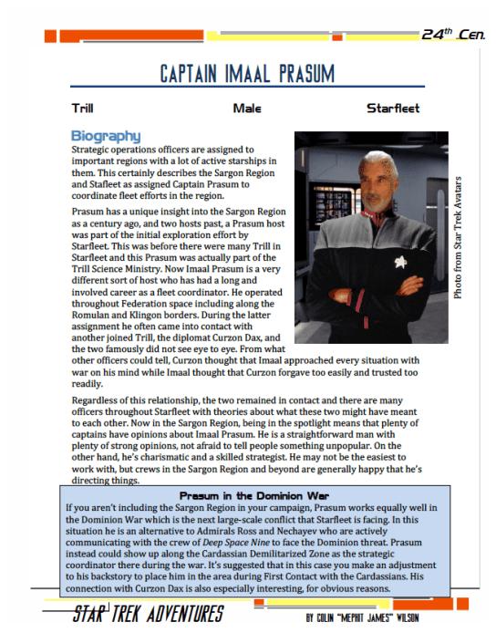 Imaal Prasum - Starfleet Tactician - Preview