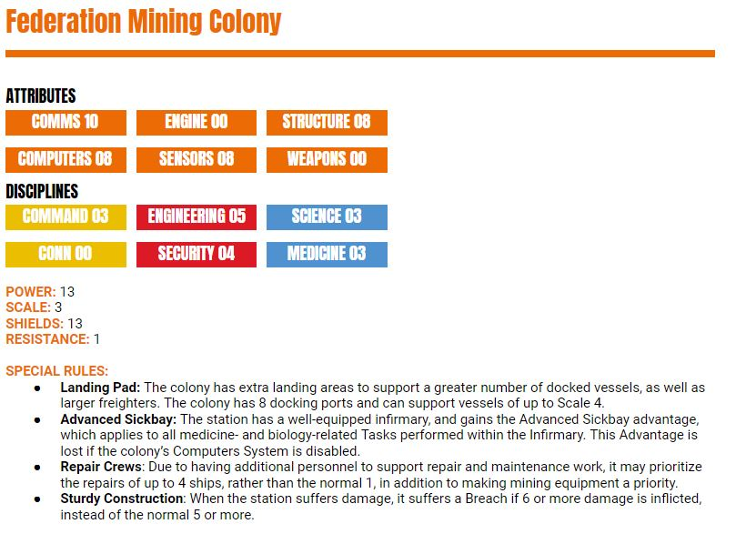 Federation Mining Colony