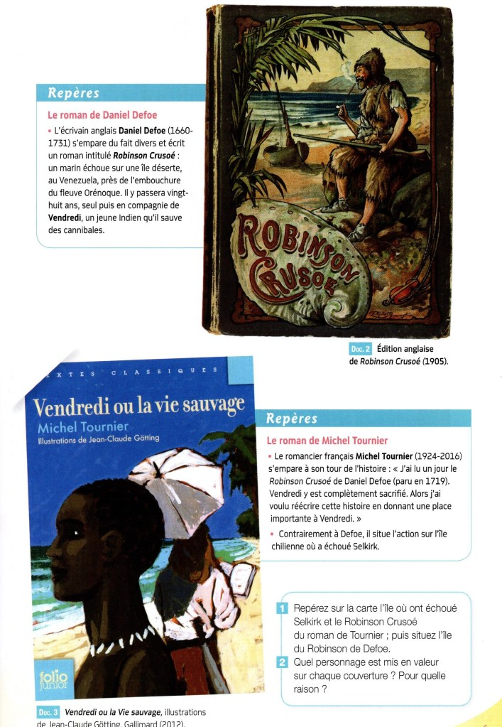 Vendredi Ou La Vie Sauvage Analyse : vendredi, sauvage, analyse, Français, THIBONNET, (5e3), Ressources, Ligne