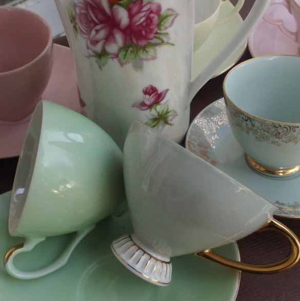 Vintage tea set for hire