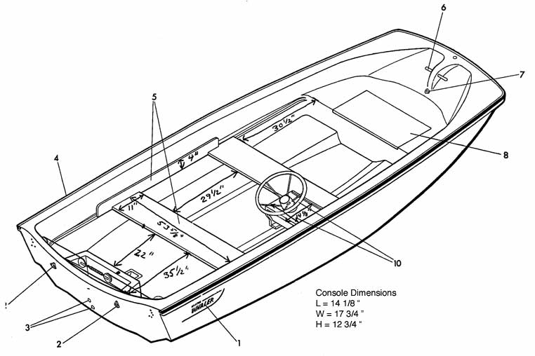 13-Footer: Plans for Bench Seats, Bow Hatch Cover, Console
