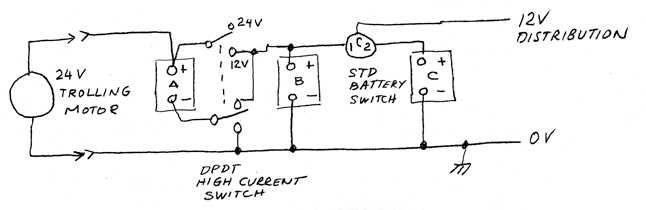 12_24_ThreeBattery646x210?resize\\\=646%2C210 12 24 wiring diagram for boat with onboard charger and 3 batteries 12 Volt Parallel Battery Wiring Diagram at gsmx.co