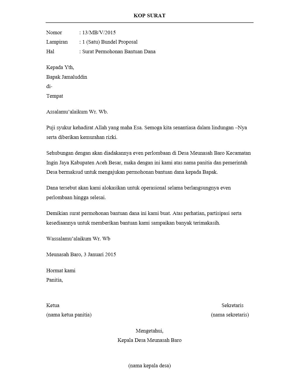 Contoh Surat Permohonan Bantuan Dana Proposal : contoh, surat, permohonan, bantuan, proposal, Contoh, Surat, Pengantar, Proposal, Resmi, Benar, Kumpulan, CONTOH, SURAT