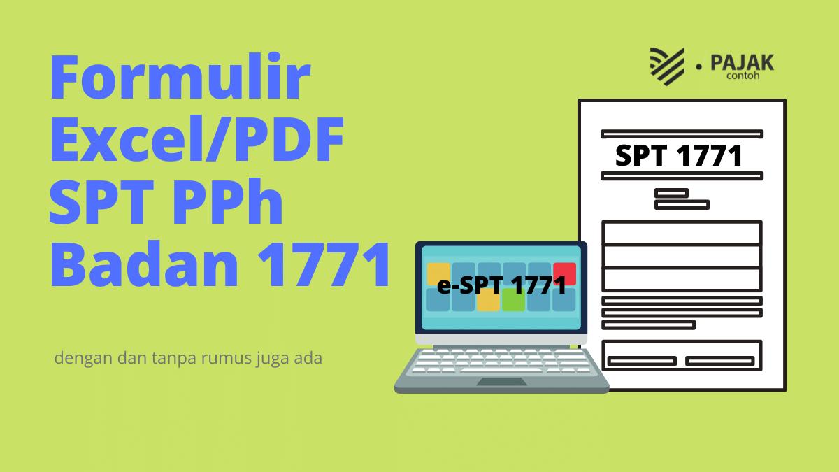 Formulir Spt Tahunan 1771 Excel Dengan Rumus Contoh Pajak