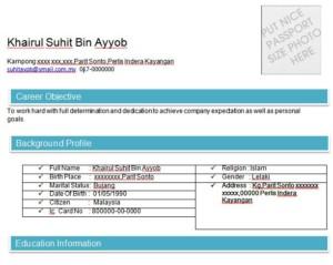Contoh Resume Bahasa English Contoh Resume