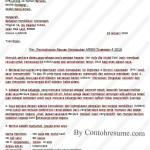 Contoh Surat Rasmi Rayuan