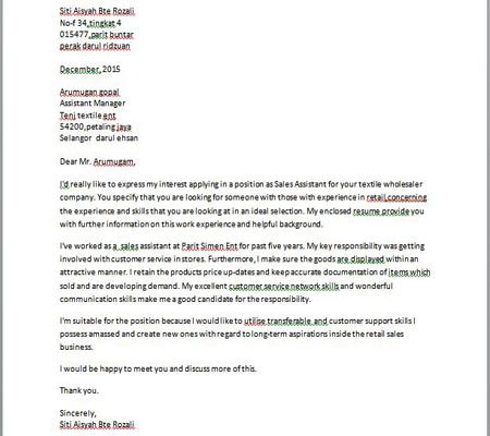 Contoh Surat Rasmi Permohonan English Kecemasan 2