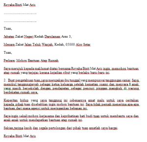 Contoh Surat Mohon Bantuan Atap Rumah - Contoh Resume