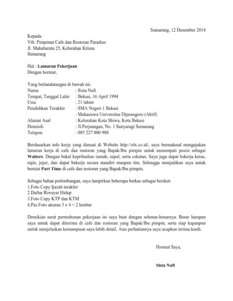 Contoh Surat Lamaran Kerja Pelaut Via Email Bahasa Inggris Info Seputar Kerjaan