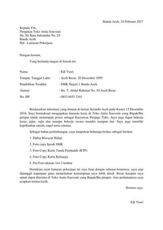 Contoh Daftar Riwayat Hidup Lamaran Kerja Pdf Materi Pelajaran 2