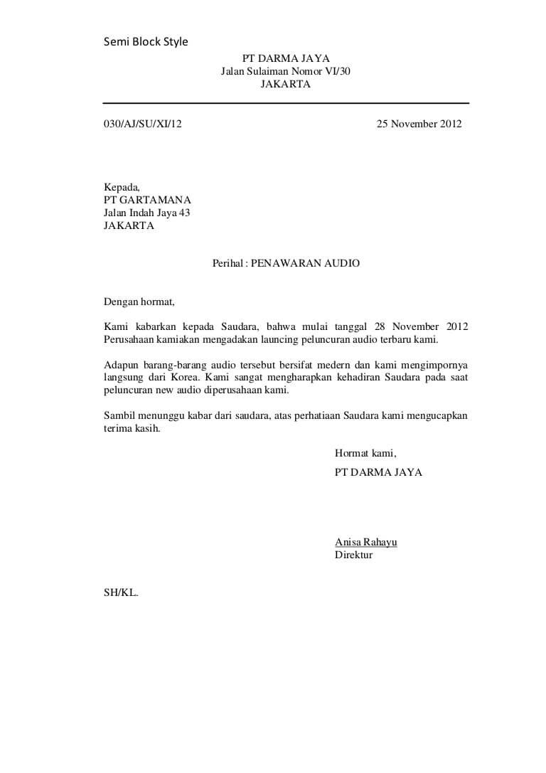5 Contoh Surat Pemesanan Barang Terlengkap Contoh Surat