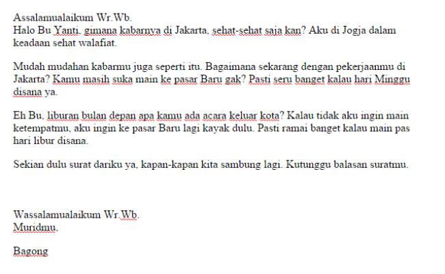 Contoh Surat Untuk Guru Singkat Cute766