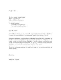 Contoh Surat Resign Bahasa Inggris