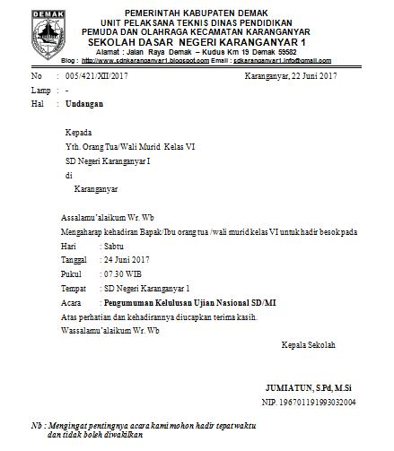 Contoh Surat Resmi Undangan Lengkap