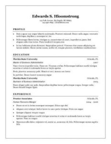 Free Resume Builder Microsoft Word
