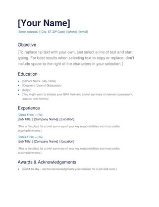 resume builder for free