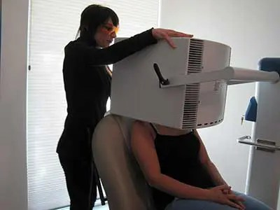 Bue light therapy treatment.