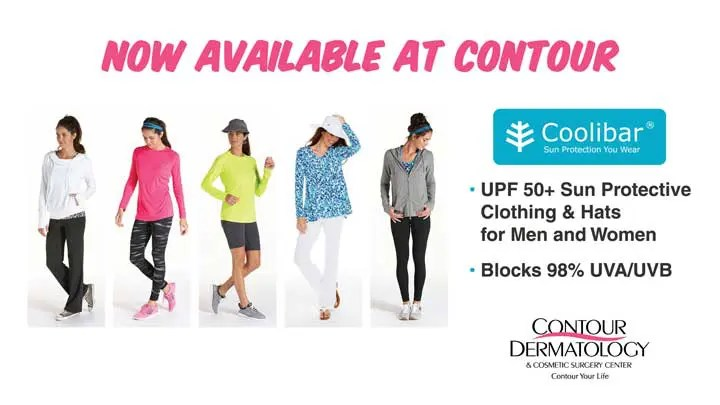 Coolibar Sun Protective Clothing now availabel at Contour Derrmatology