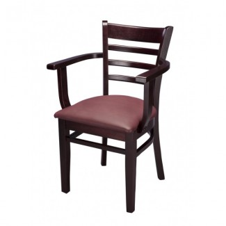 wooden restaurant chairs with arms plycraft lounge chair furniture traditional beech wood arm 553ap ladder back