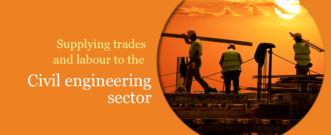 Supplying trades and labour to the civil engineering sector
