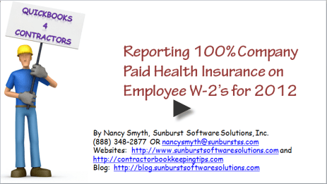 tracking health insurance in QuickBooks video