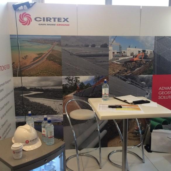 Cirtex geosynthetics booth
