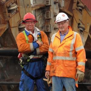 Rusty Rhodes (left), Smith Lift manager and Paul Brummitt, TBM mechanical supervisor.