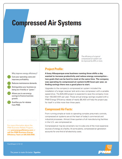 Compressed Air Systems Fact Sheet