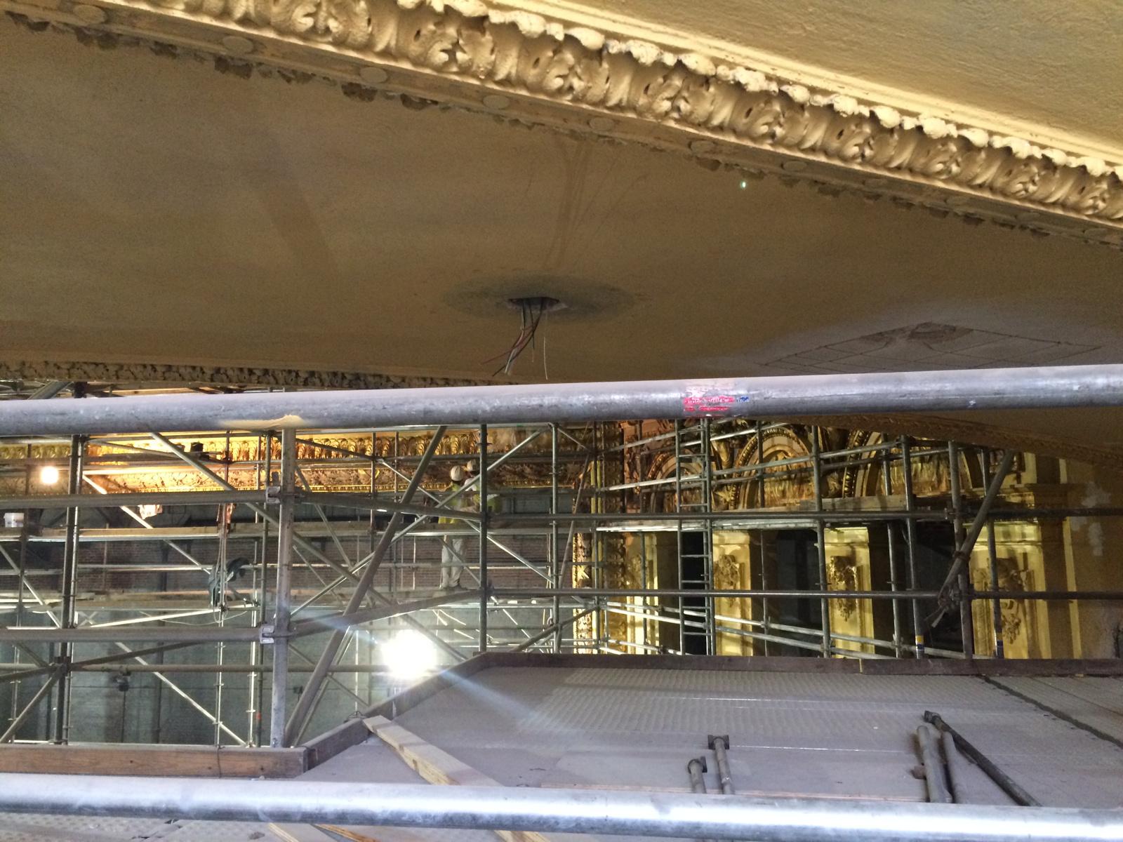 Lyric Theater scaffold 2