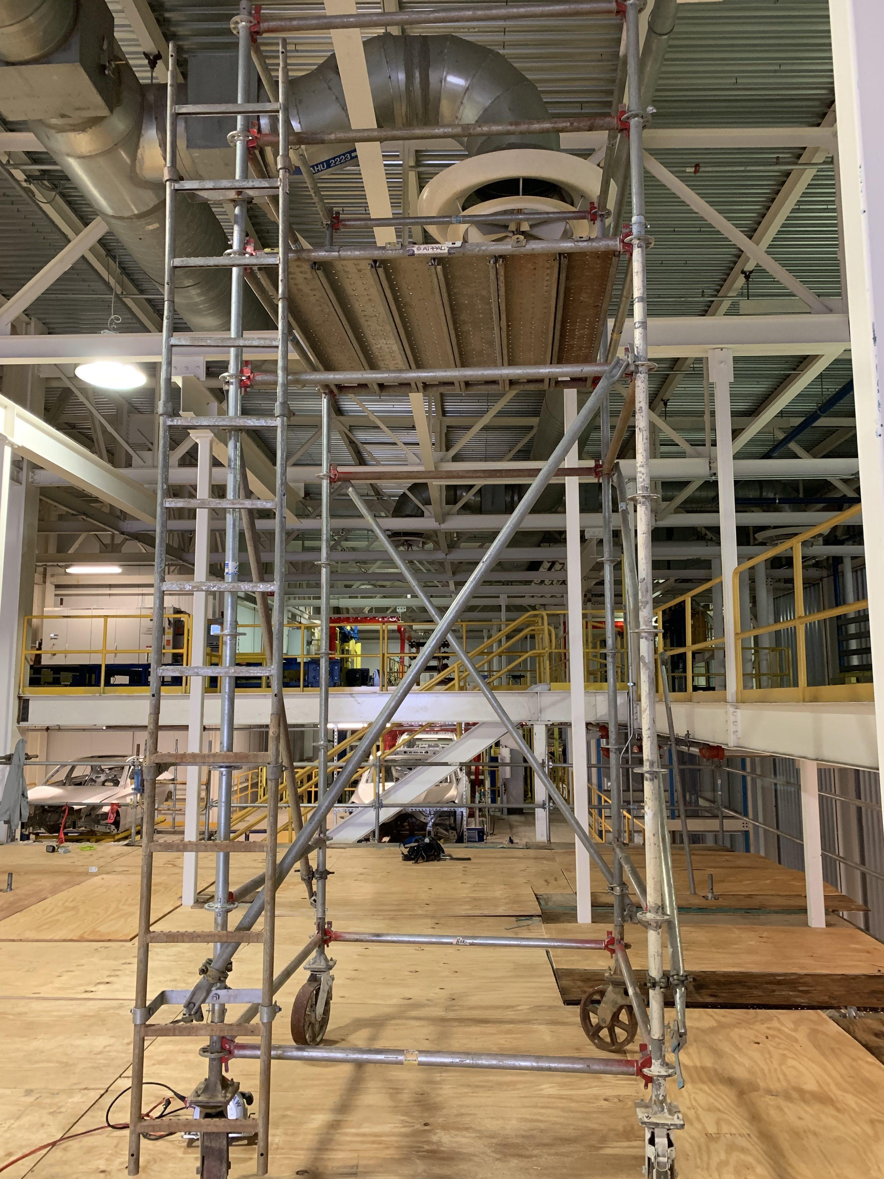 New Mezzanine in Industrial Plant scaffold 15