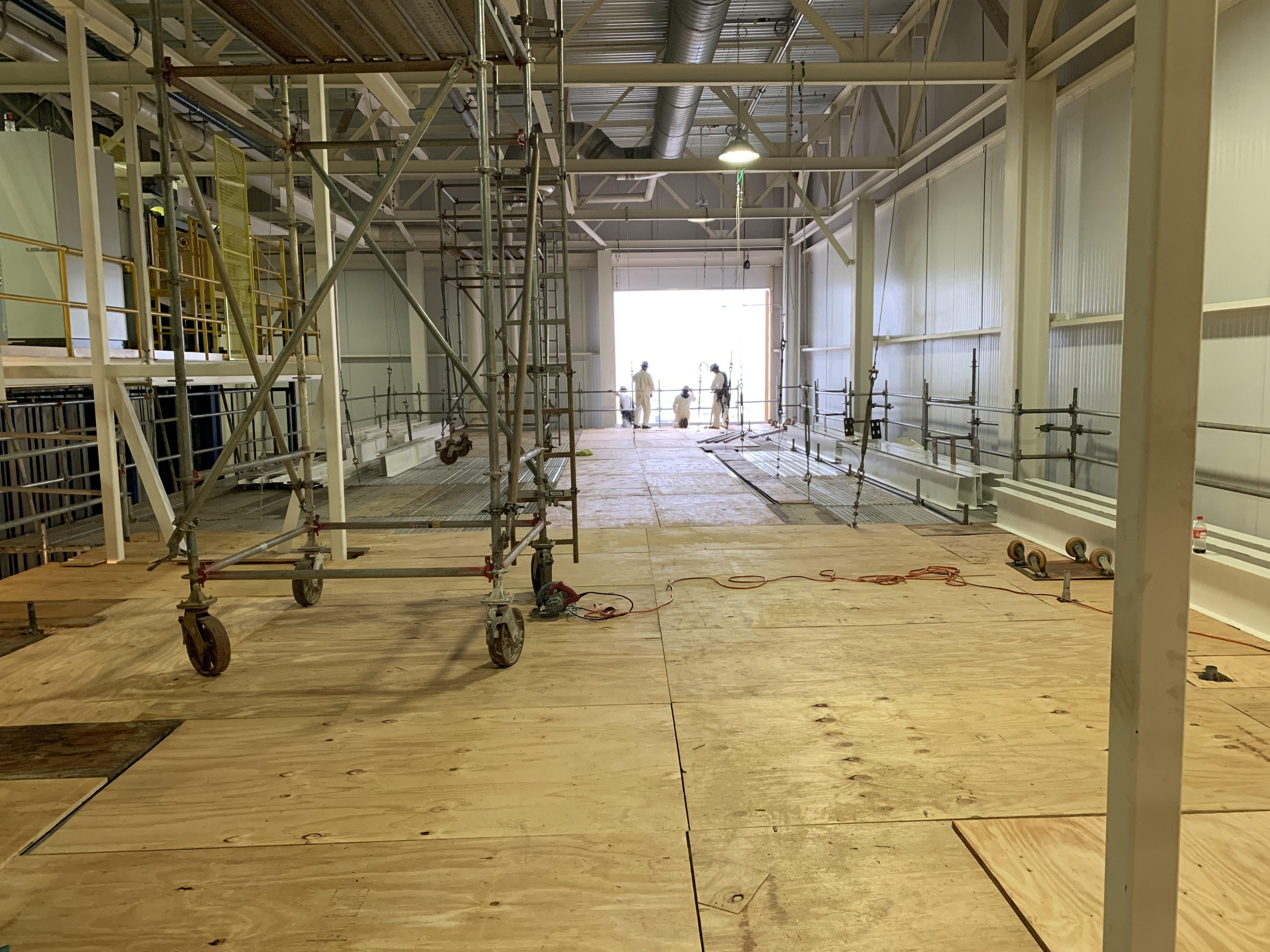 New Mezzanine in Industrial Plant scaffold 14