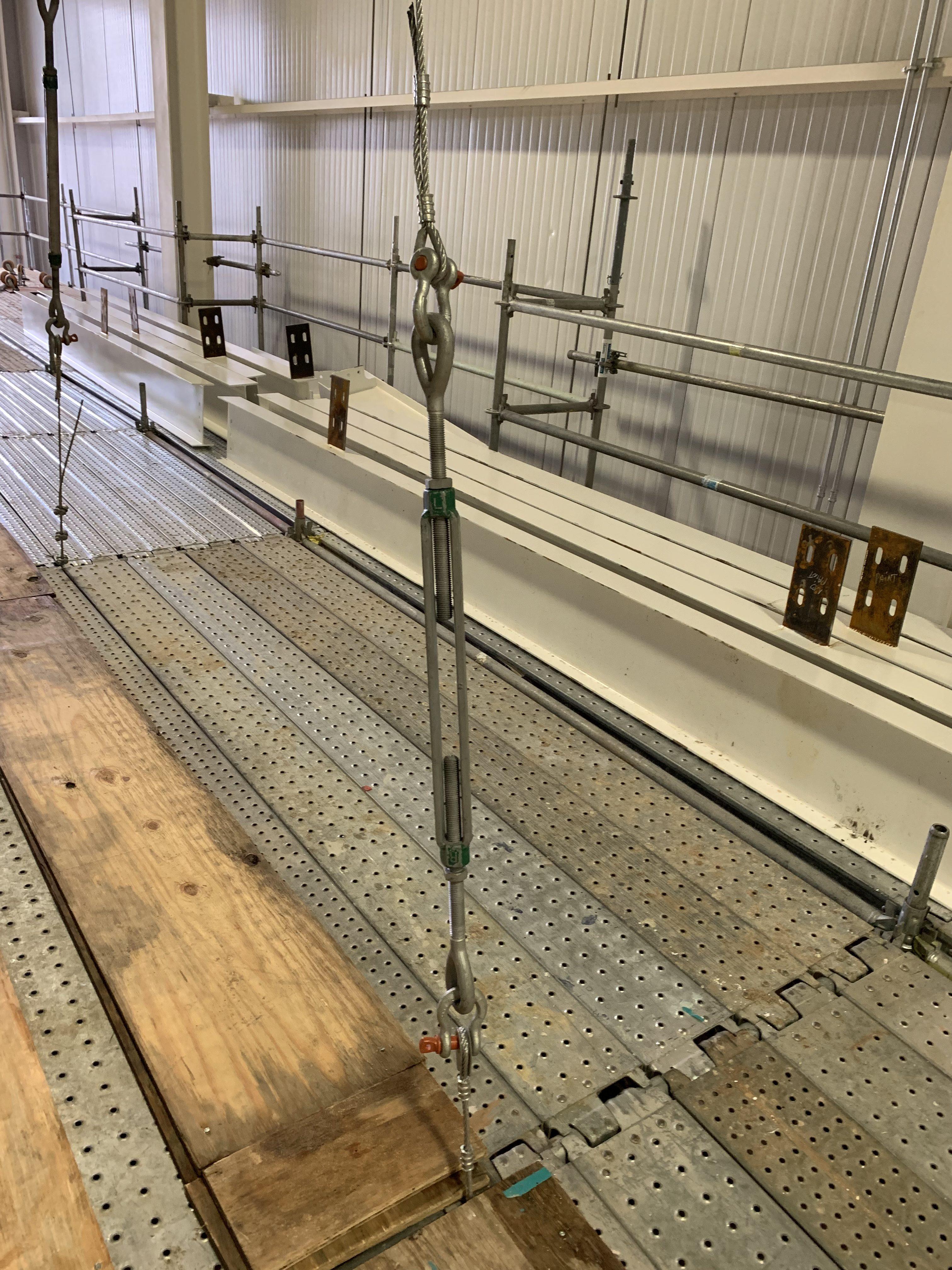 New Mezzanine in Industrial Plant scaffold 13